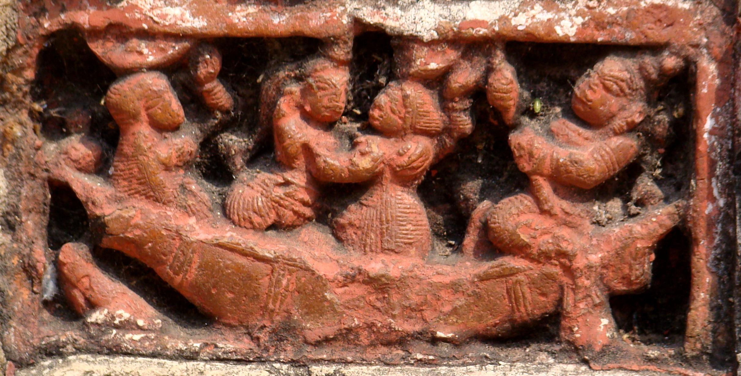 Nouka Vilash (Radha & Krishna in a boat)_ Rajbalhat